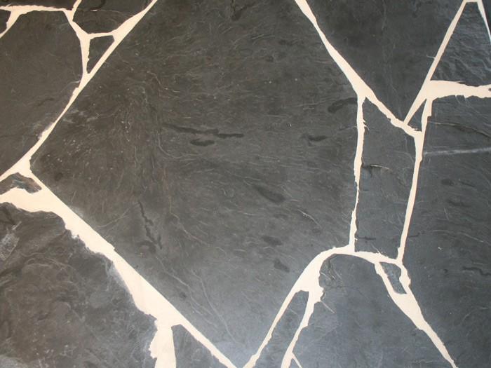 Opus Incertum Ardoise Noire épaisseur de 25 à 30 mm