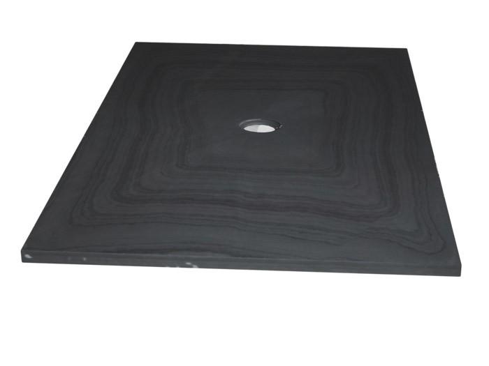 Bac à douche en Ardoise Noire 900x900x30 mm