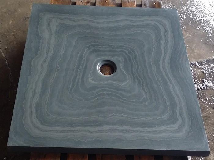 Bac à douche en Ardoise Gris vert 900x900x30 mm