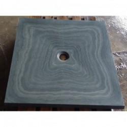 Bac à douche en Ardoise Gris vert 1000x1000x30 mm