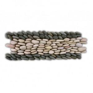 Frise riz sauvage en Calades 300x100mm noir et blanc