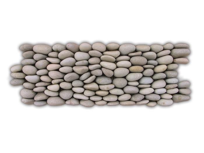 Frise Calades horiz. 22mm beige N°1 30x10x2.2 galets mats