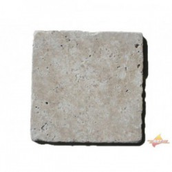 Dalles Travertin 20x20x1.2 cm 1er choix Mix
