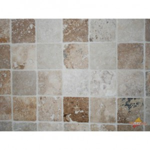 Dalle en Travertin Turc 100x100x10mm MIX (beige nuancé)