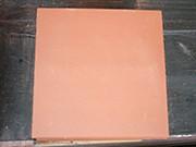 Carrelage Tomette lisse Rosé-Rouge 20x20x1.8 cm