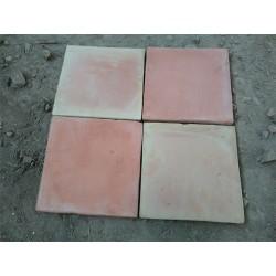 Carrelage Tomette Moulé Main Paille rosé 20x20x2 cm