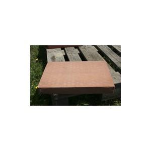 Brique moulée 42x28x5 cm Rosé