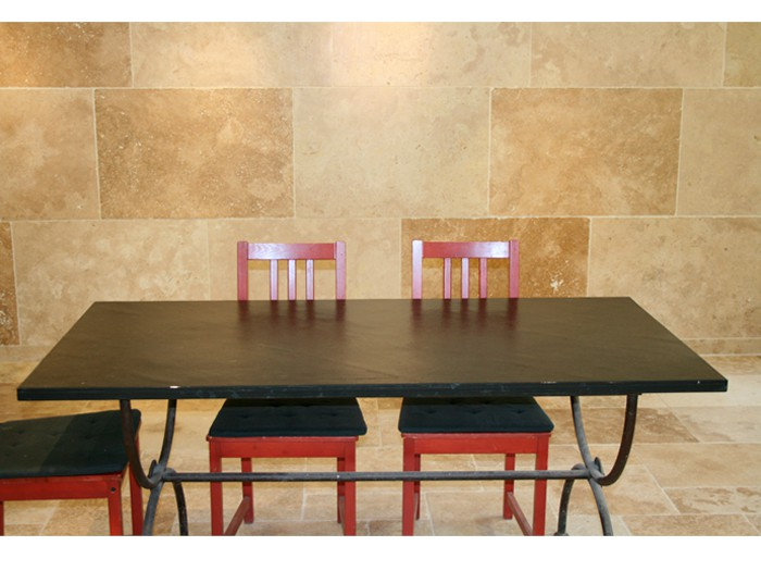Table en Ardoise Noire 1600x800x20 mm
