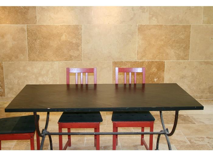 Table en Ardoise Noire 1600x800x30 mm