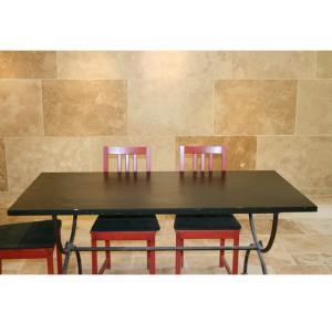 Table en Ardoise Noire 2000x1000x20 mm