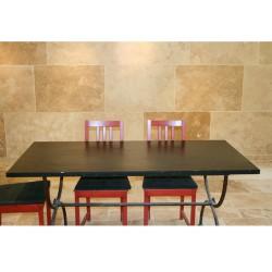 Table en Ardoise Noire 2200x1300x30 mm
