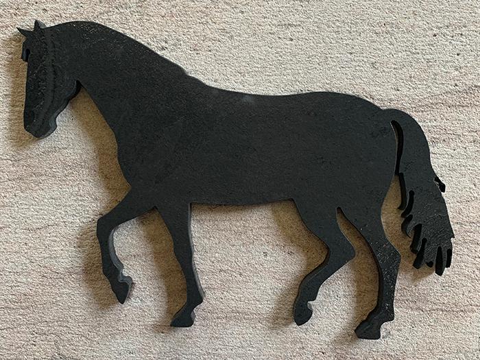 CHEVAL 28x19 cm en Ardoise Noire - Décoration