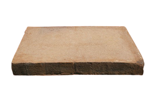Brique moulée 42x28x5 cm Flammé beige