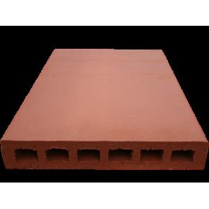 Brique Perforée 40x27x5,5cm Fait Main Rosé-Rouge