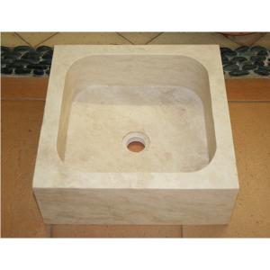 "Vasque ""Travertin Turc"" 400 x 400 x 150 mm"