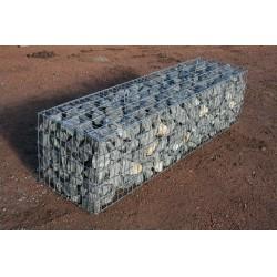 Gabion 2x0.5x0.5 m pré-rempli Calcaire Gris