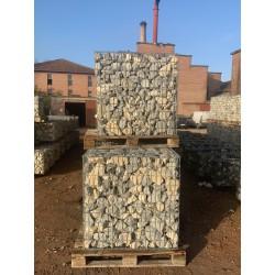 Gabion 1x0.5x1 m pré-rempli Calcaire Gris