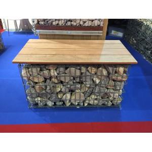 Gabion 1x0.5x0.7 m pré-rempli galets de Garonne