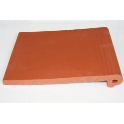 Nez de marche terre cuite rouge 27x31 cm lisse