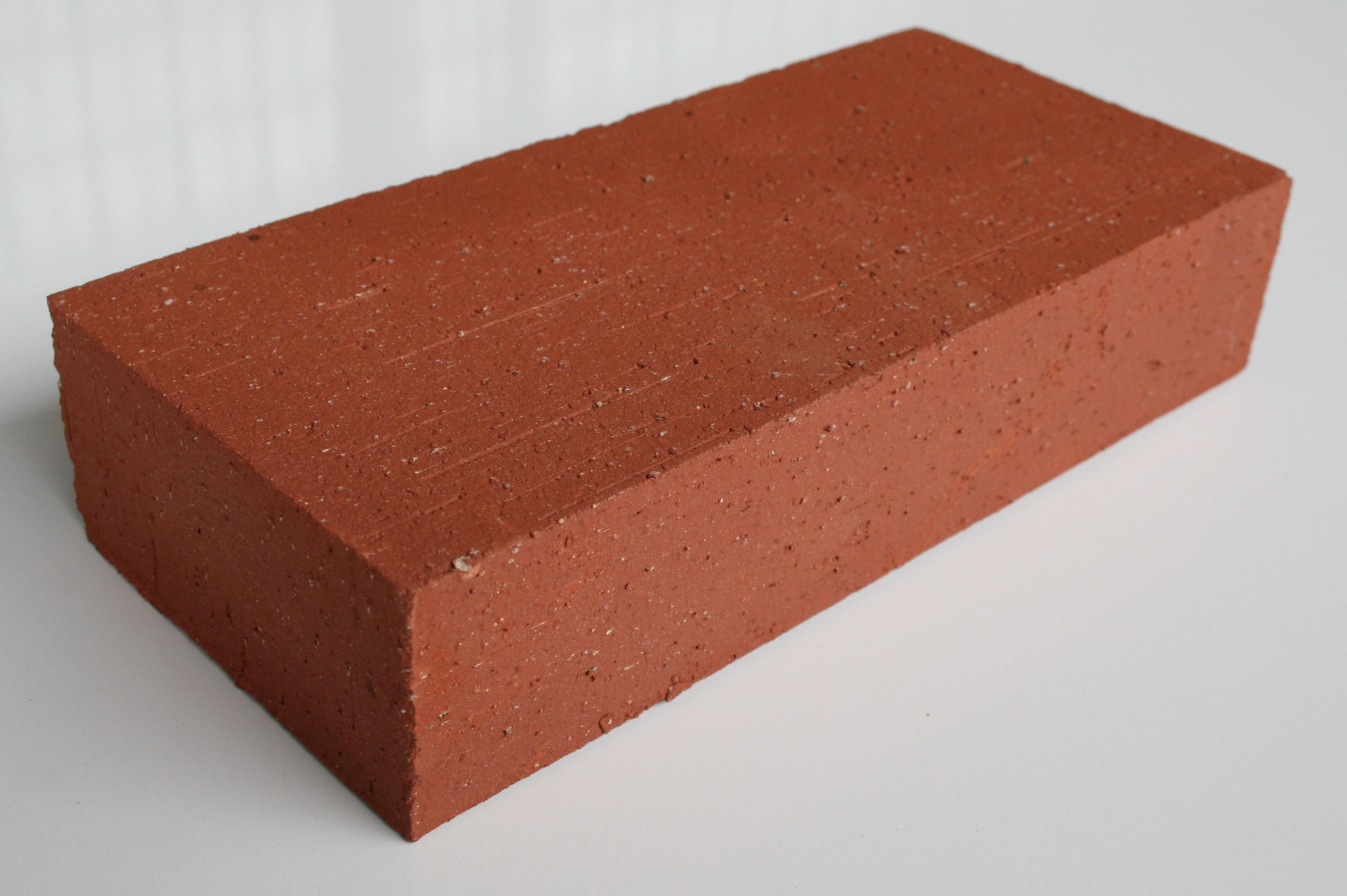 Brique 22x11x5 cm finition arrachée rouge