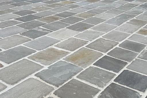 Pavés Grès d'Inde Gris (Kandla Grey) 10x10x3/5 cm