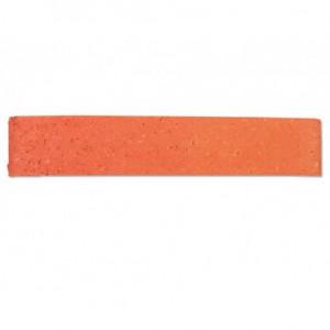 Plaquette de Parement arrachée rosé rouge 28x5x1,5cm