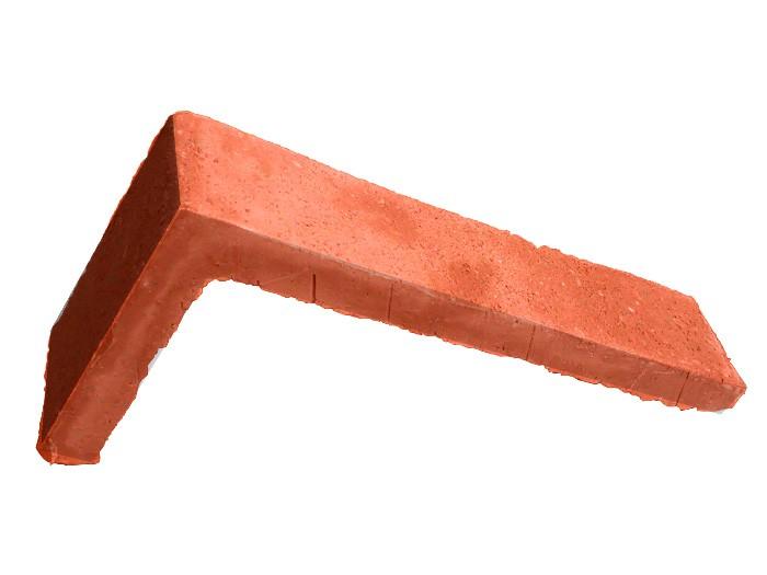 Equerre de Parement arrachée rosé rouge 22x11x5cm ép.1,5cm
