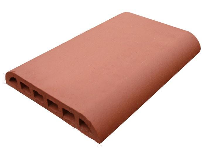 Chaperon arrondi terre cuite lisse 40x27x5,5cm Rosé-Rouge